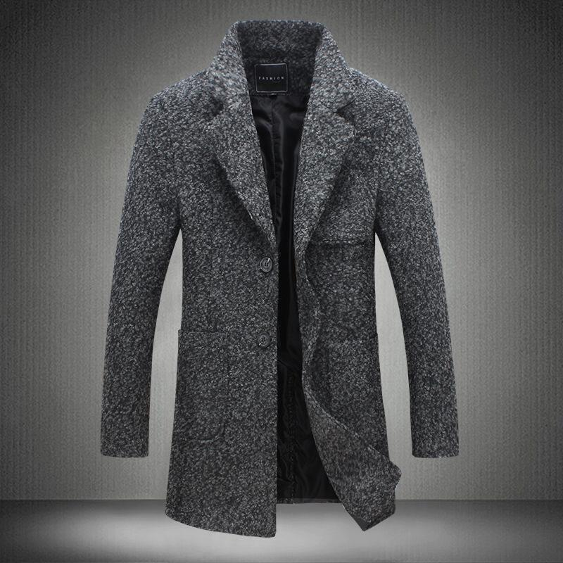 62ff386f0866 Großhandel 2018 Herbst Und Winter Mens Fashion Boutique Wolle Wollmäntel    High End Marke Männlich Schlank Woolen Windjacke Jacke Größe S 5xl  C18110601 Von ...