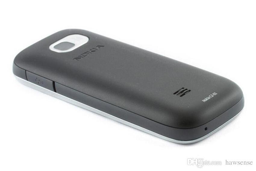 Rinnovato originale Nokia C2-01 sbloccato 2,0 pollici Screen Bar cellulare GSM WCDMA 3G 3.2MP fotocamera FM MP3 MP4 Cell Phone Post gratuito