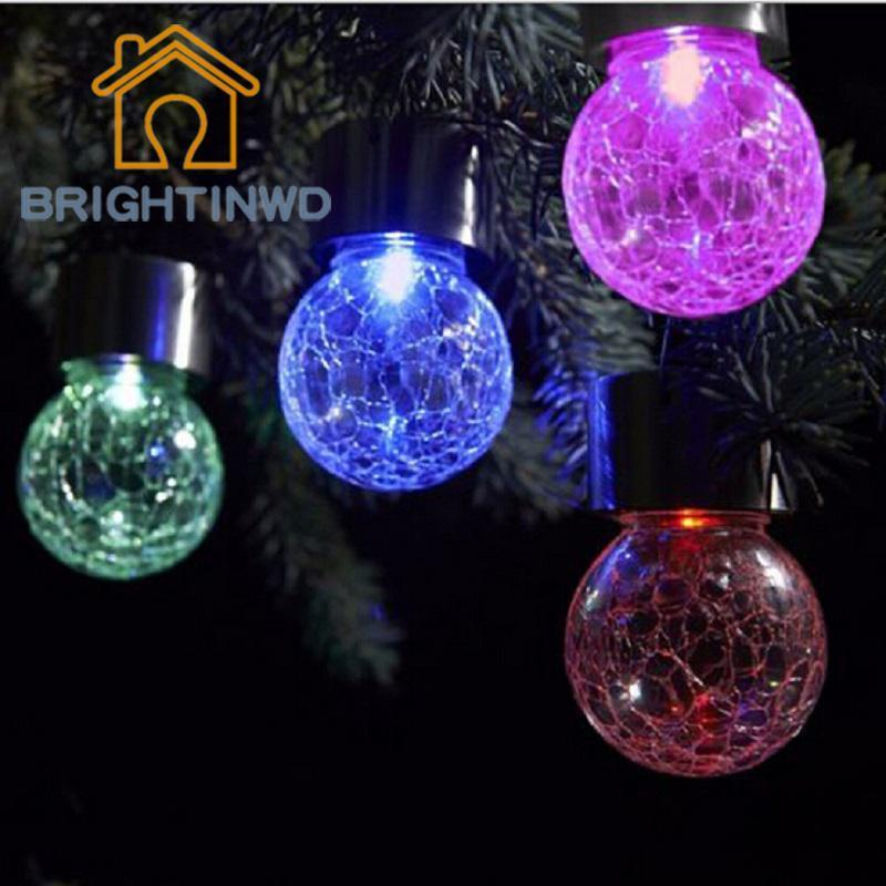outdoor solar light bulb crackle glass balljpg
