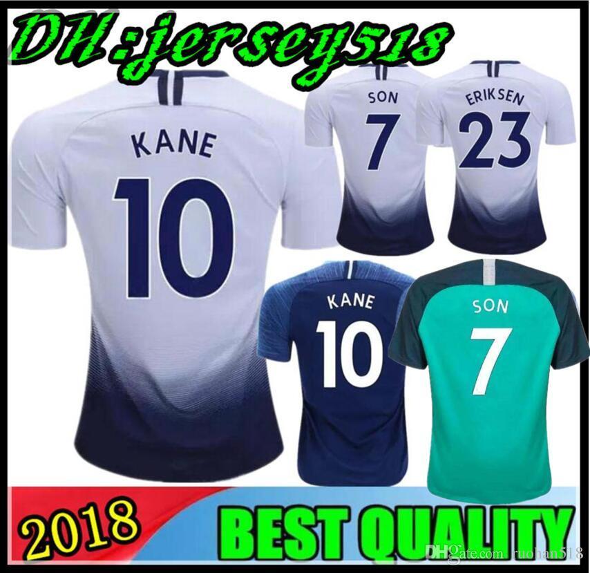 0e3d9b2418f 18 19 KANE Spurs Soccer Jersey Home Away Third Tottenhames Jerseys 2018 2019  LAMELA ERIKSEN DELE SON Football Shirt Adults And Kids Soccer Jersey Soccer  ...