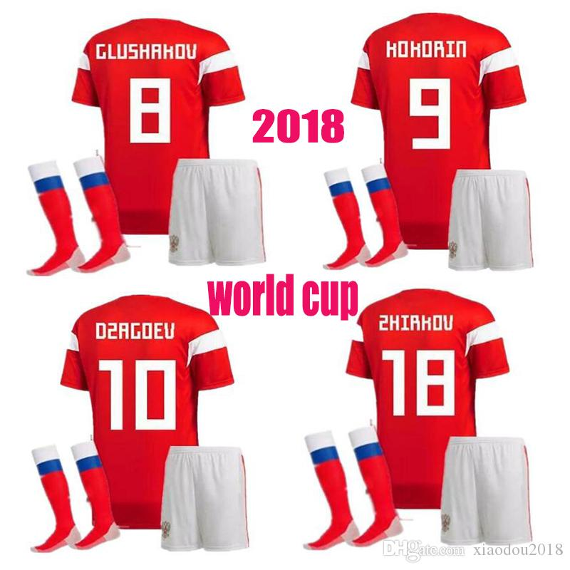 bbc8945cb 2018 World Cup Russia Adult Kits Soccer Jersey 18 Men Russian Home ...