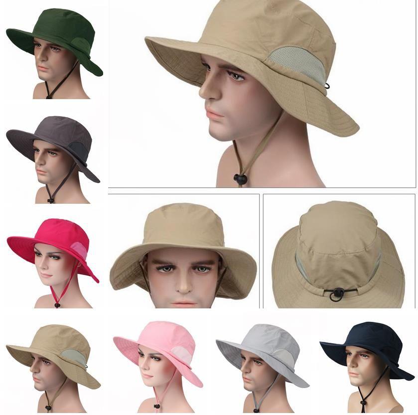 2beb9a9896157 New Unisex Bucket Hat Wide Brim Boonie Cap Sunblock Foldable Fishing Hiking  Hunting Outdoor Bucket Hats Sun Protective Fisherman Hats Bucket Hat Fishing  ...