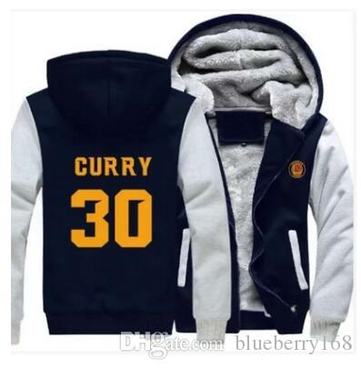 huge discount dbd7e bccff Men Women Stephen Curry 30 MVP Zipper Jacket Thicken Hoodie Coat Casual  Winter Clothes 2017