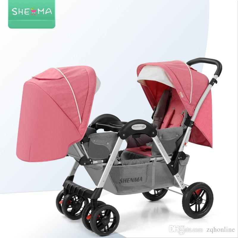 2019 lightweight baby stroller for twins double stroller sgs