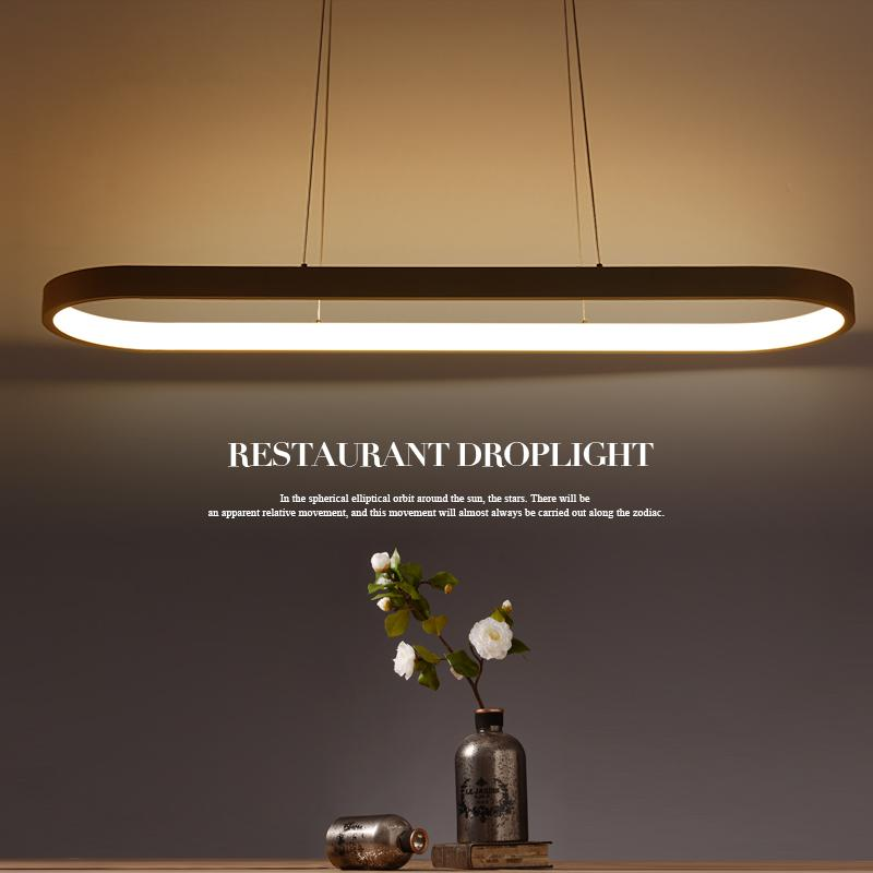 New Creative Modern Led Pendant Lights Kitchen Acrylic Metal