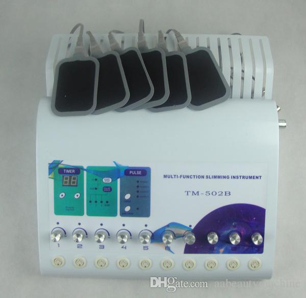 2 in 1 Russian Waves TENS EMS electric muscle stimulator pads belt for tens plus heating TM-502B