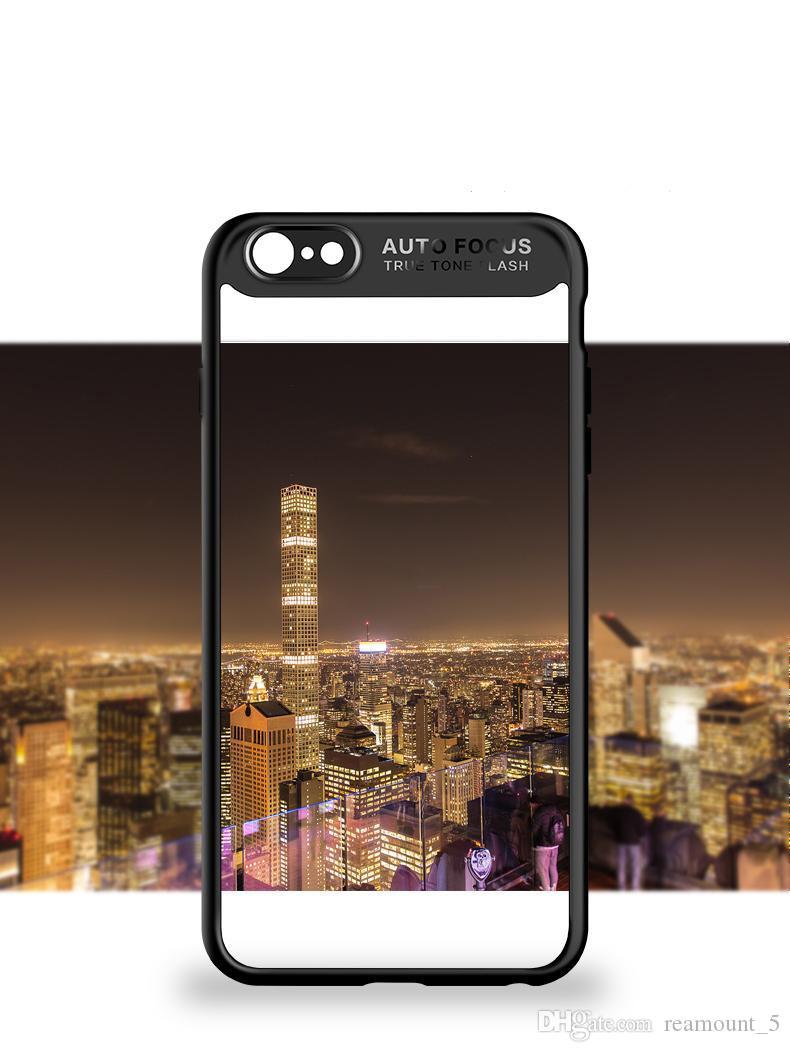 Transparent-Kasten für iPhone 8 Plus weicher TPU ultra-dünne dünne Abdeckung für iPhone 7 6
