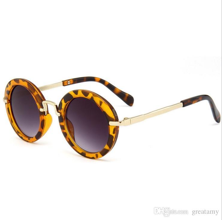 Moda çocuklar küçük erkekler kızlar kadınlar genç çocuklar retro anti-UV400 güneş shades bebek gözlükler gözlükler sunglass