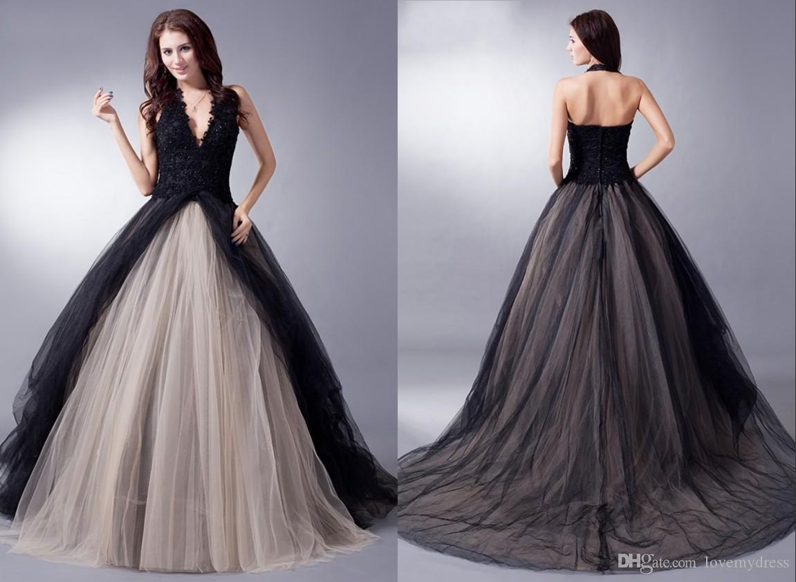 Plus Size Black Gothic Wedding Dresses