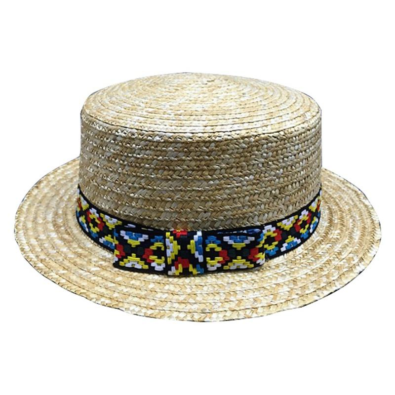 be5dc89c 2018 Summer New Fashion Sun Hat Wheat Panama Sun Hat Beach Ribbon Bow Knot  Naval Style Straw Fur Hats Men Hats From Amoywatches, $41.54| DHgate.Com