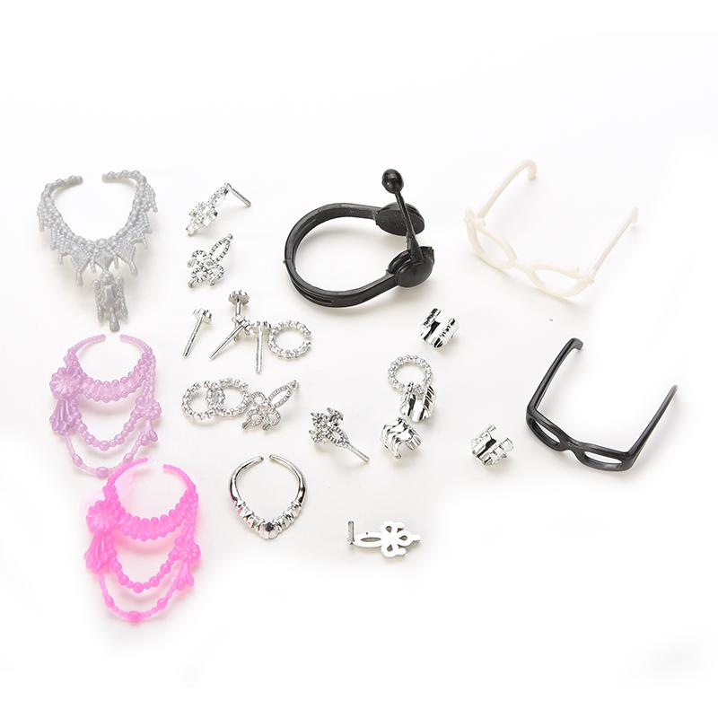 16a8f2fddd90 MINIFRUT Hot Sale Shoes Bag Necklace Comb Glasses Dress For Dolls  Accessories Set For Toys Child Gifts Toy Doll Accessories Dolls Pram  Accessories From ...