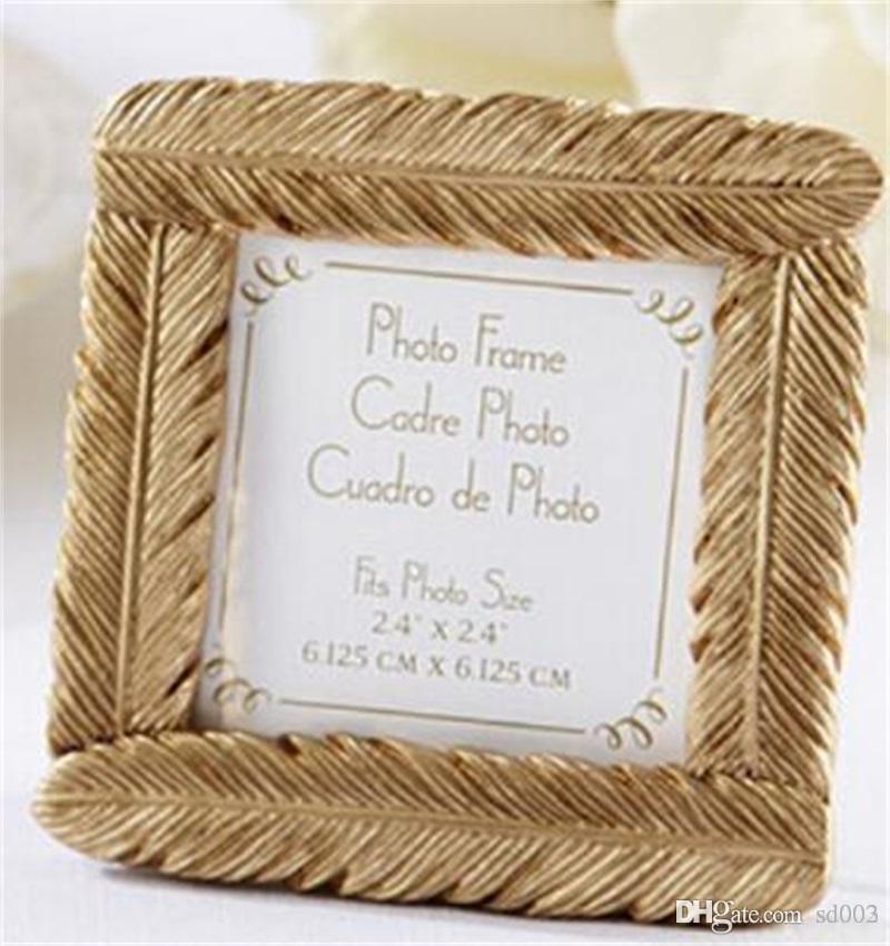Grosshandel Goldene Feder Fotorahmen Sitz Clip Hochzeit Liefert