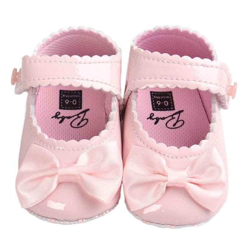 6c31332f3 2019 Baby Girl Shoes Lovely Bowknot Leather Shoes Anti Slip Sneakers Soft  Sole Toddler Month Drop Ship T  From Humom