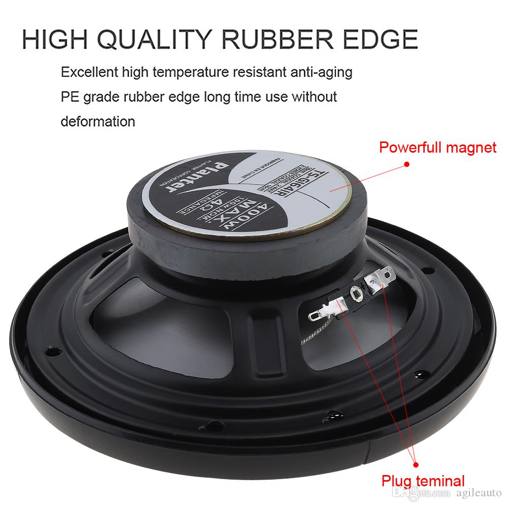 6.5 Inch 400W Car HiFi Coaxial Speaker Vehicle Door Auto Audio Music Stereo Full Range Frequency Speakers for Cars PMP_71T