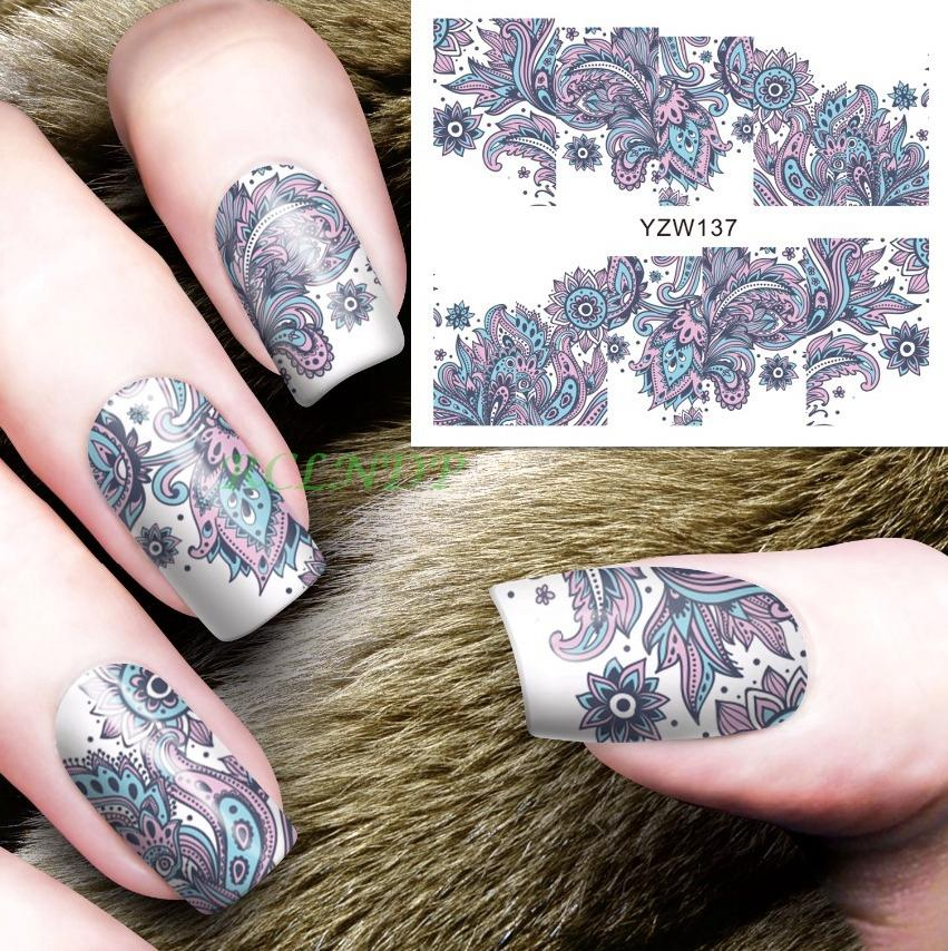 Water Sticker For Nails Art All Decorations Sliders Flowers Lace ...
