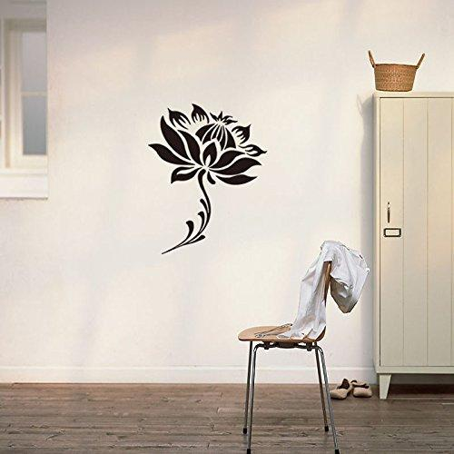 Acquista Lotus Flower Floral Buddha Buddismo Wall Sticker Decal La ...