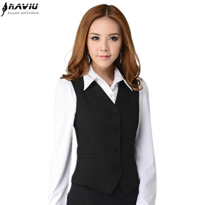 Work Wear Suit Vest Women Clothing Waistcoats Spring Autumn Summer