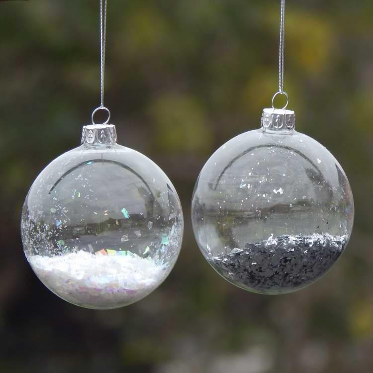 diameter 6cm pack glass christmas ball transparent glass globe christmas day decoration different diameter decor christmas decor christmas decorations