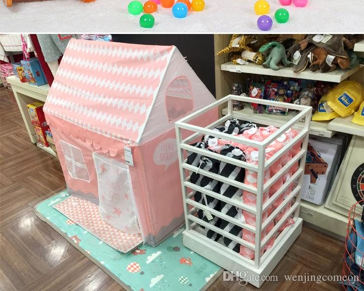Children Beach Tent Girl Lovely Pink Play Game House Ocean Ball Tent Princess Castle Indoor Outdoor Toys Tents 100*70*110cm