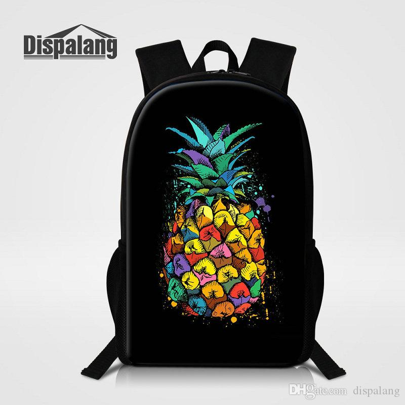 e4d93f158236 Cute Cartoon Pineapple Printing Backpack For Children 3D Fruit Bookbags  Rucksack For Teenagers Women Daily Bagpacks 16 Inch Rugtas Mochilas