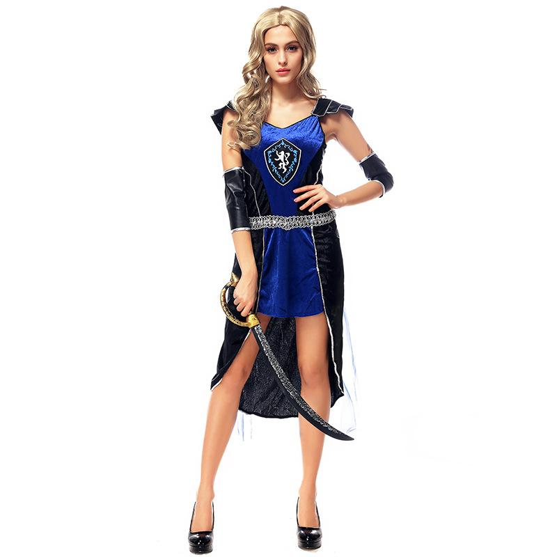 e2cd399dc51 2019 Ancient Roman Greece Greek Female Soldier Warrior Costumes Party  Cosplay Deluxe Pirate Halloween Fantasias Costumes Sexy From Alfreld