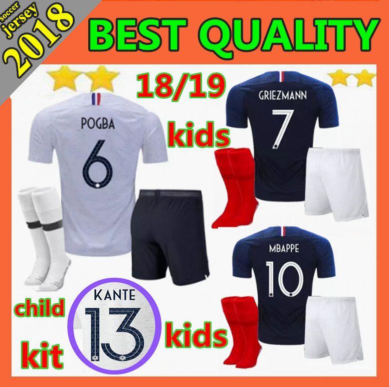 9d5f8fdd4c1 2018 2019 World Cup Kids Kits POGBA Soccer Jerseys 2018 PAYET ...