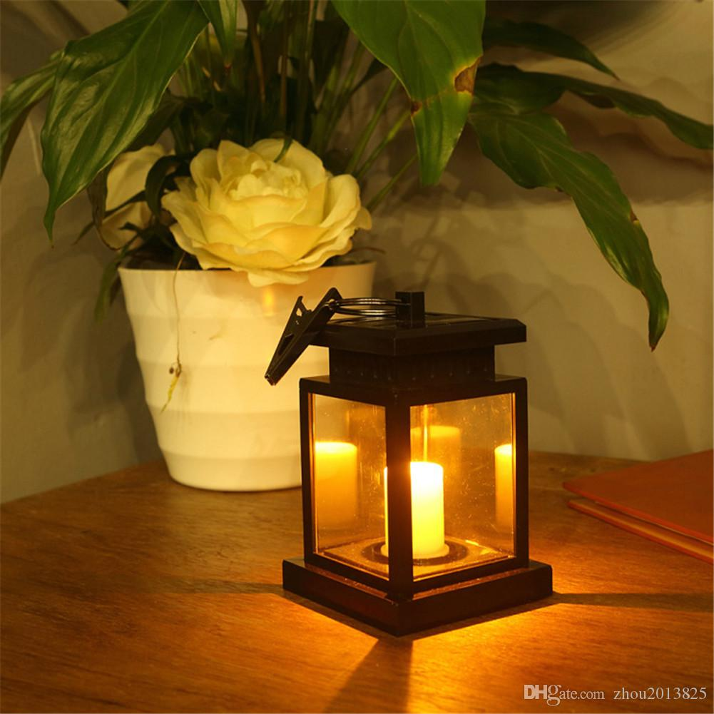 LED Solar Candle Light, Garden Hanging Light Decoration Outdoor ...