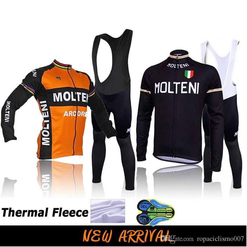 Molteni Ropa Ciclismo Hombre Invierno 2018 Winter Thermal Fleece Long  Sleeves Cycling Jersey Maillot MTB Bike MTB Maillot Ciclismo Bib Set Womens  Cycling ... bc2afee26