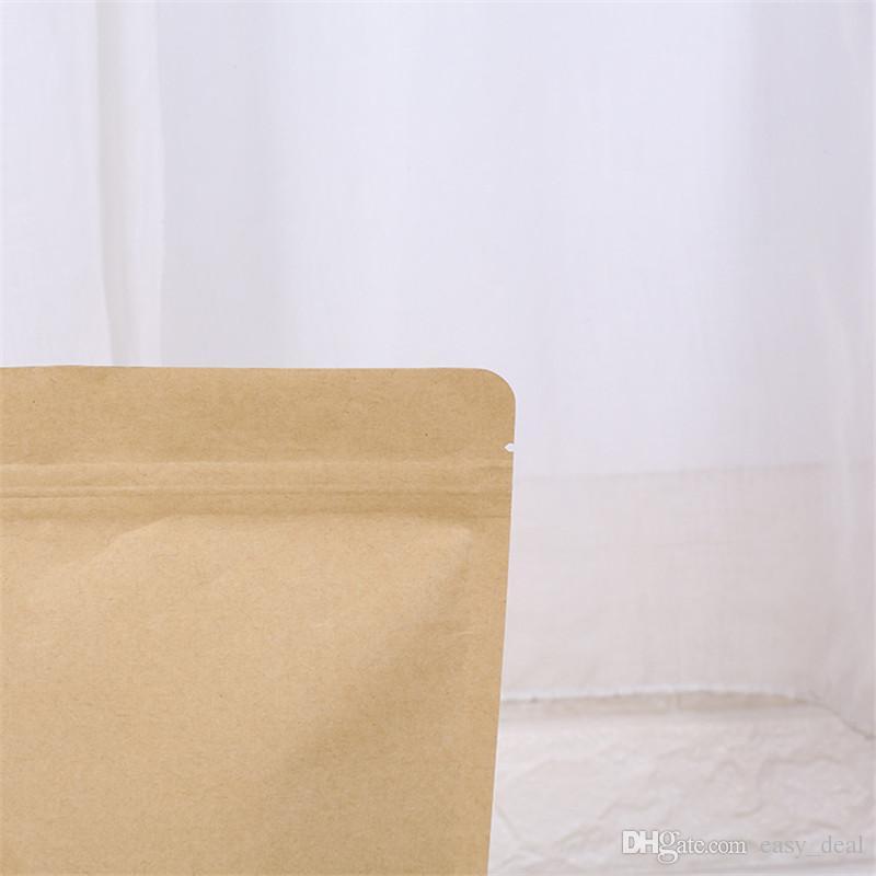 Zipper Brown Kraft aluminizing Beutel, Stand up Kraftpapier Aluminiumfolie Tasche wiederverschließbare Zip Lock Grip Dichtung Food Grade LZ1873