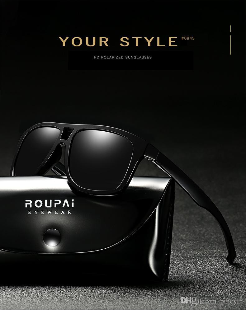65b12d9f71 Compre Gafas De Sol De Lente De Alta Calidad UV400 Hombre Gafas De Sol  Polarizadas De Deporte De Gafas De Sol Polarizadas es Para Opciones Con  Embalaje 0943 ...