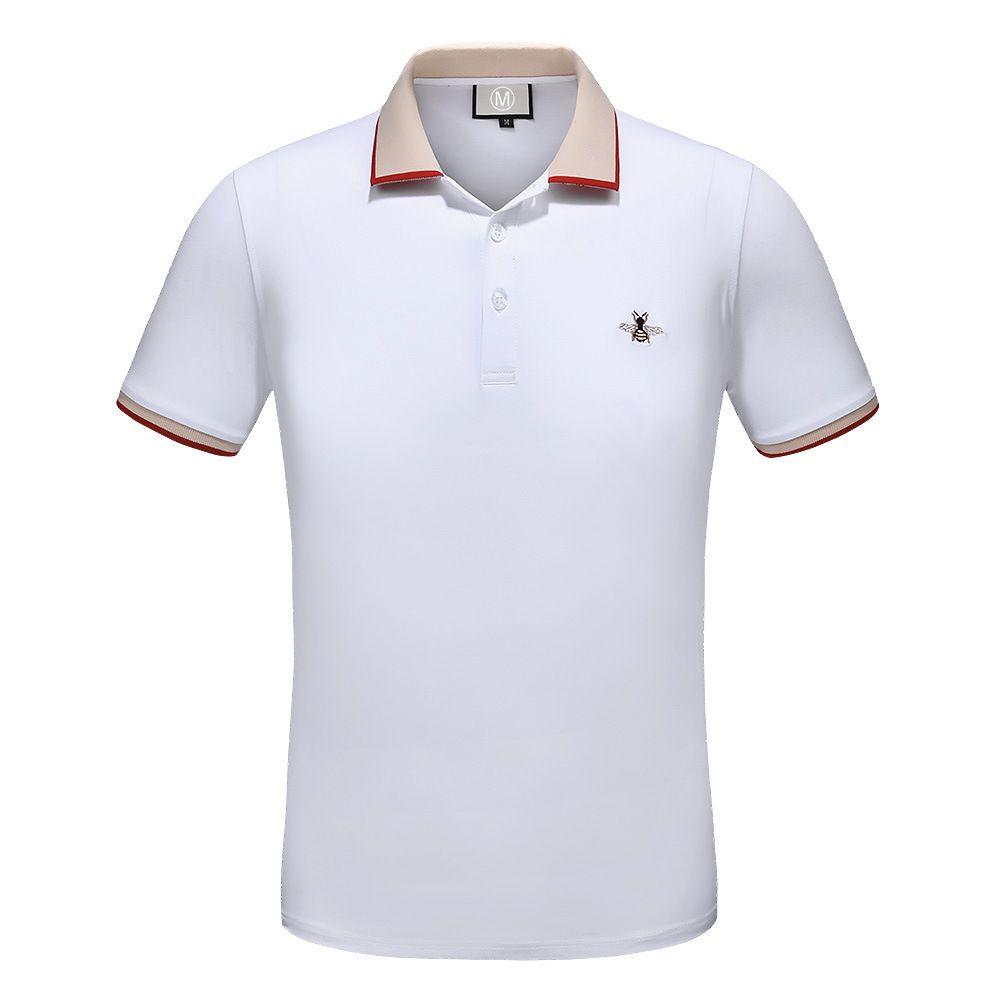 Designer Polo Shirts Men New Summer Casual Mens Polo Shirt Business ... 97b823c39cd5