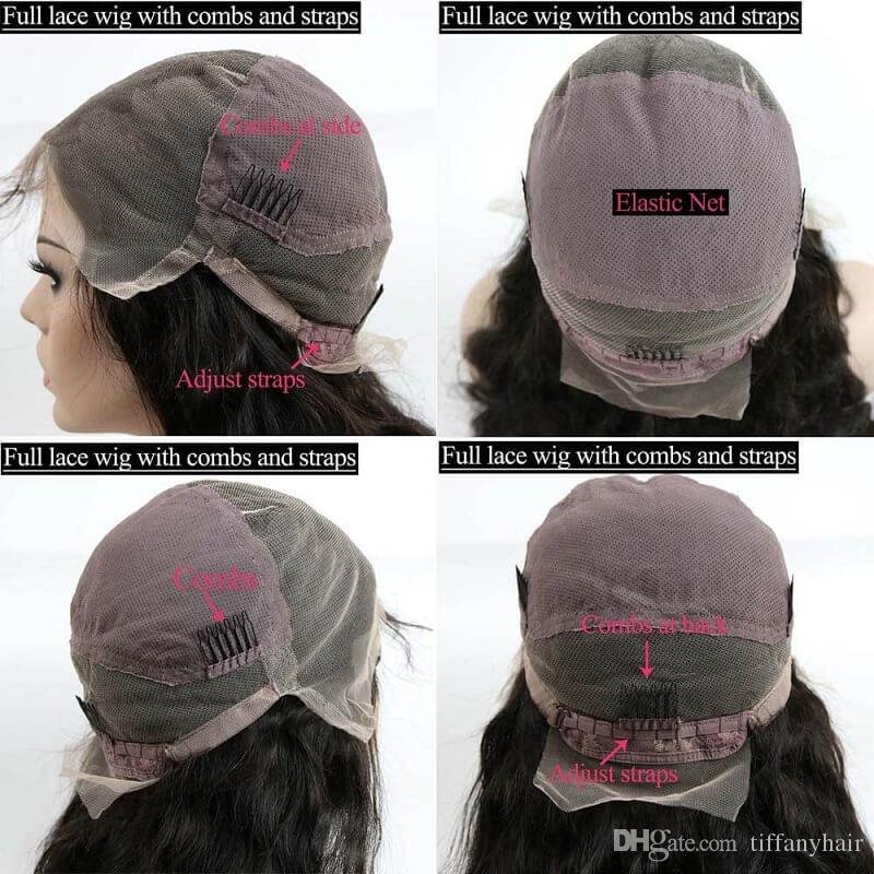 Brasilianische Lace Front Perücken Curly Full LaceWigs Pre gerupft natürlichen Haaransatz für Frau qtfn Haar