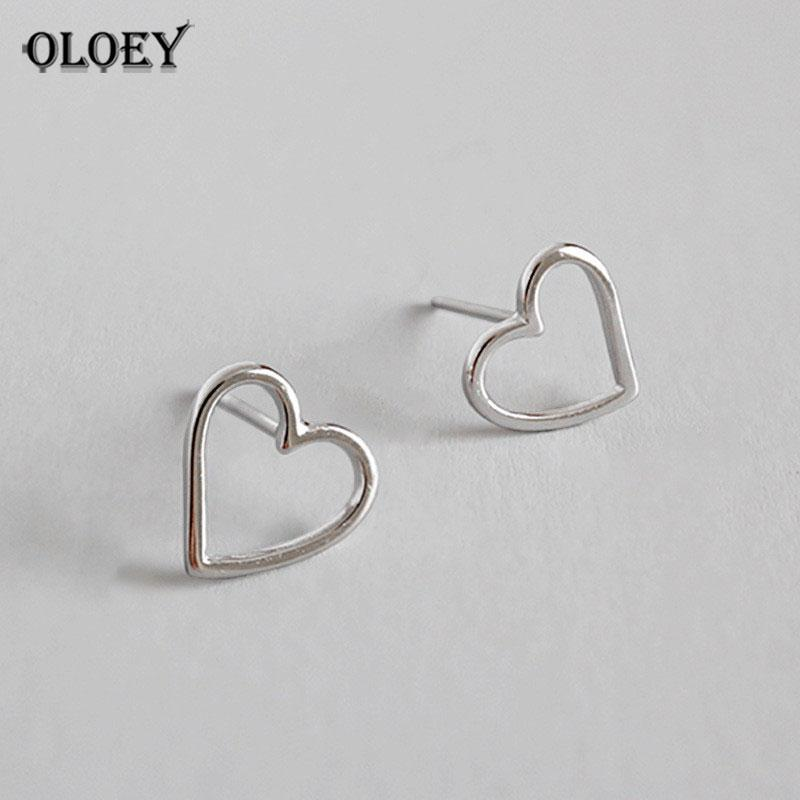 77392a84c 2019 OLOEY 100% Real 925 Sterling Silver Stud Earrings Cute Tiny Hollow  Heart Earring Gift For Girls Kids Fine Party Jewelry YME168 From  Shuidianba, ...