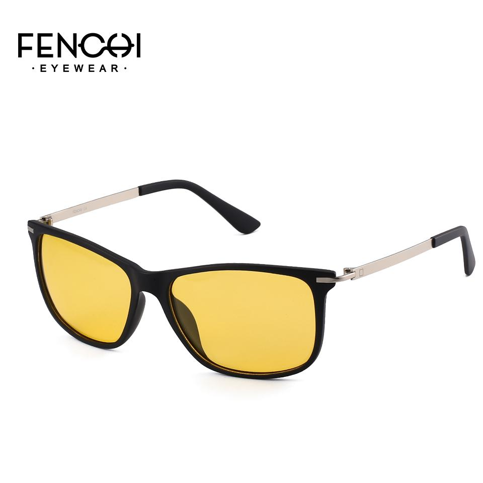 dcba7d57506 FENCHI 2018 Design Sunglasses Men Polarized Square Retro New Driving  Vintage Fashion Night Vision Metal Sun Glasses Light Weight Wiley X Sunglasses  Mirror ...