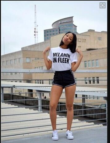 be0502051e9c3a Casual Cotton T Shirt MELANIN ON FLEEK T Shirt Letter Printed Fashion  Clothing Short Sleeve TSHIRTS Tops HipSter Tees T Shirt Quotes Patriotic T  Shirts From ...