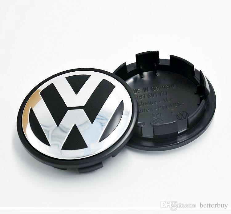 Hot Sale 65mm Car Wheel Cover Badge Wheel Hub VW Center Caps Emblem For VW 2010 TOUARET New