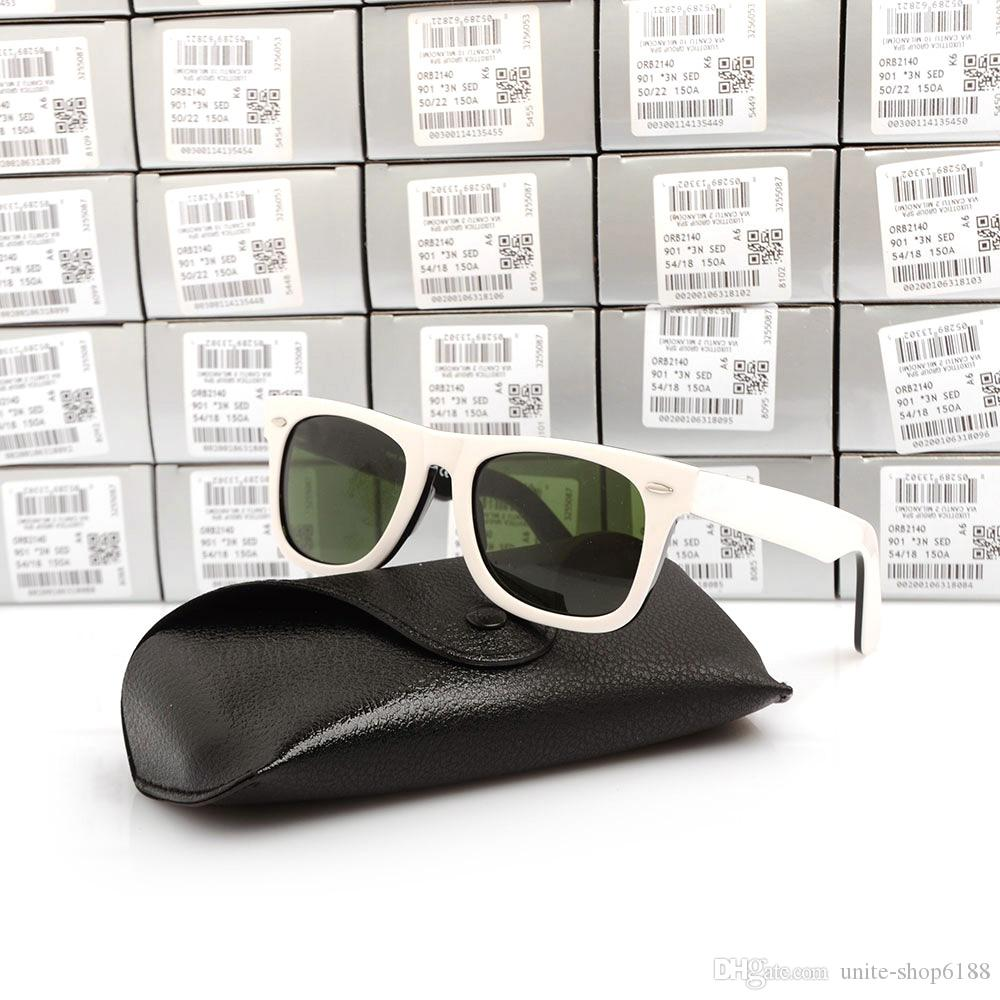 High Quality Plank black 2140 Sunglasses glass Lens Black Frame Green Lens Plank Sunglasses beach sun glasses Fashion Sunglasses With Boxs