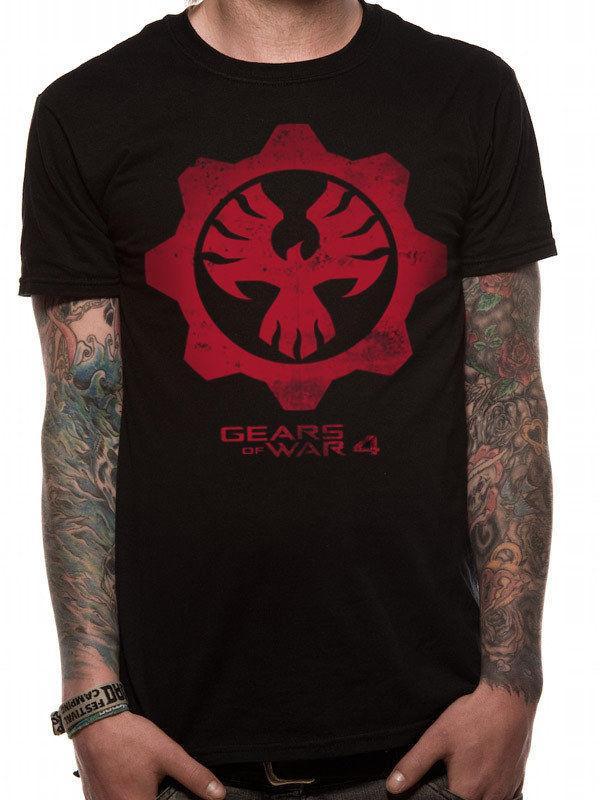 Official Gears Of War 4 Red Phoenix Symbol Black T Shirt New Tourist