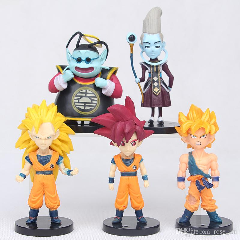 10 adet setleri Dragonball Z Dragon Ball DBZ Anime 5-10 cm Goku Vegeta Piccolo Gohan süper saiyan Action Figure Oyuncak B