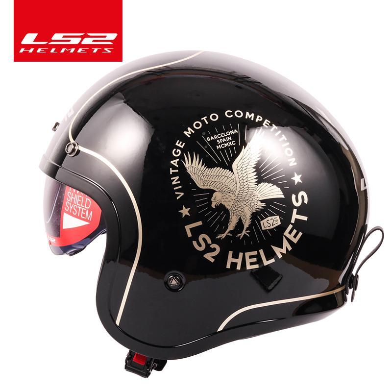 Original Ls2 Spitfire Vintage Helmet Open Face Fashion Design Retro