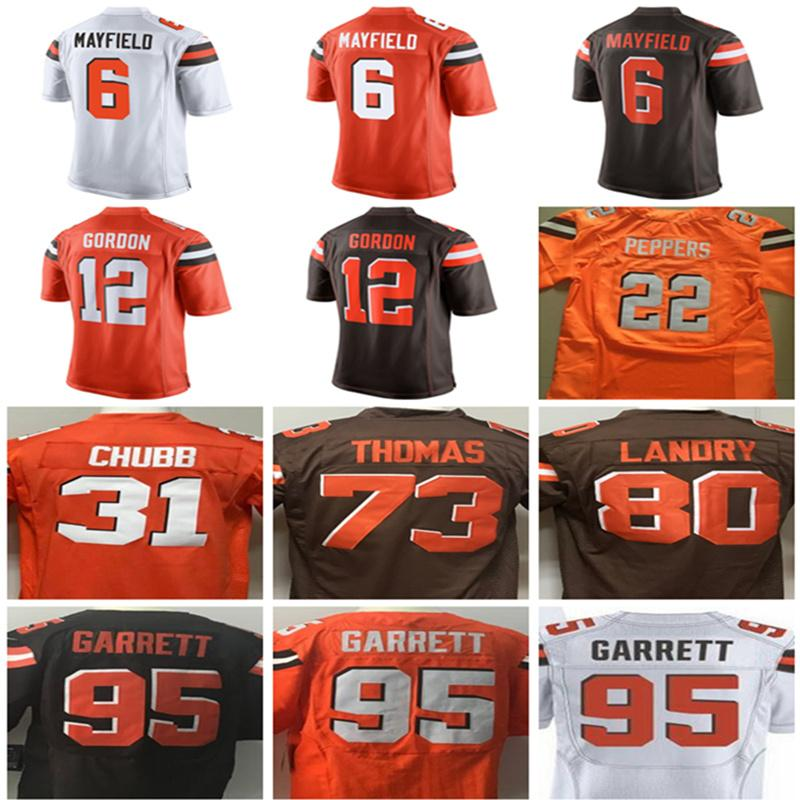 6323bb39e ... myles garrett 95 3ee81 ee7c4  ireland mens cleveland browns elite  jerseys 6 baker mayfield 12 josh gordon 73 joe thomas 80