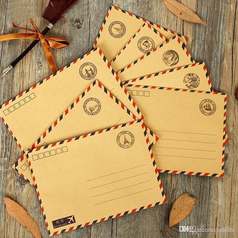 Wholesale Tiamech Wholesale Vintage Kraft Paper Postmarks Design