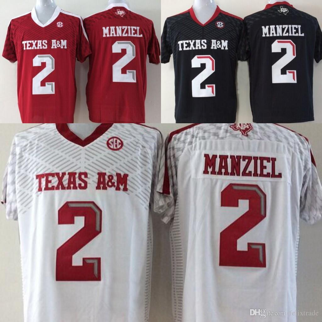 893819accff 2019 Youth Texas A&M Aggies Jerseys #2 Johnny Manziel Youth Black Red White  Stitched Jerseys Size S XL From Felixtrade, $16.26 | DHgate.Com