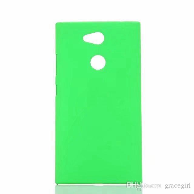Funda rígida de goma para PC para Sony Xperia L2 M5 Huawei Honor V10 Disfrute 7S 9 Pro Redmi 5 Plus 5A Cubierta protectora de piel para aceite mate