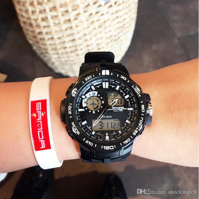 b9991e8e4e48 Compre Nueva SANDA Marca De Lujo Mujer Relojes Deportivos Moda LED Reloj De  Cuarzo Digital Relojes Deportivos Al Aire Libre A Prueba De Agua Para  Vestido De ...
