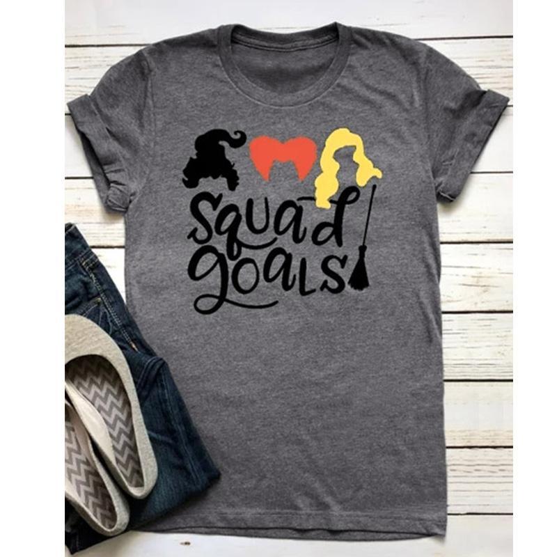6871eebae Sales Women Fashion T Shirt Letter Printed Graphic Tees Shirt Womens  Printing Halloween Tops Tee Squad Goals Tshirts T Shirts Very Funny T Shirts  From ...