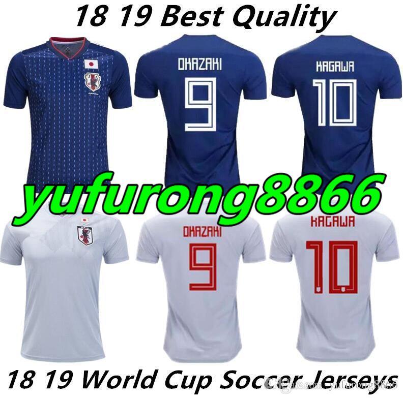 2019 2018 World Cup Japan Soccer Jerseys Home Blue Away White Maillot Foot  2017 2018 OKAZAKI KAGAWA HASEBE Japanese Best Quality Football Shirt From  ... 92480a54e