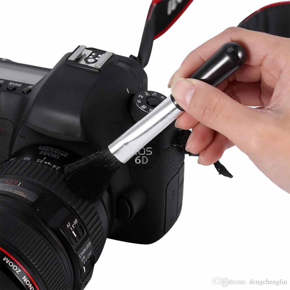 5 in 1 Dust Cleaner Camera Cleaning Lens Pen Brush Lint-free Wipes Air Blower Kit For Canon Nikon Spirit Hot Shoe