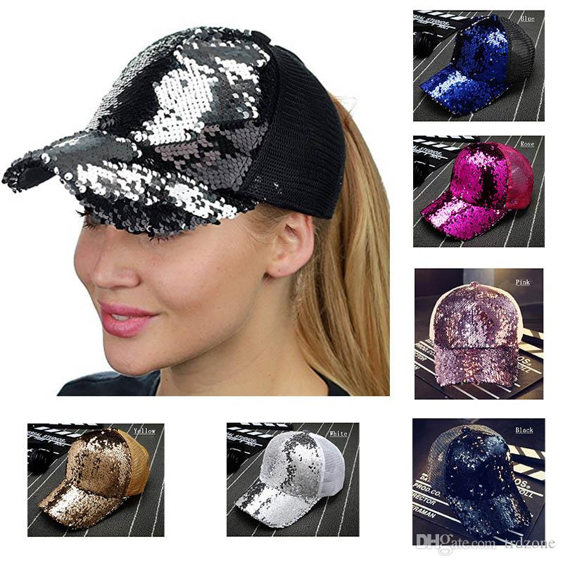 a028e1a4f3b 2018 Fashion Sequins Hat Childrens Cartoon Ball Hat Kids Baseball ...