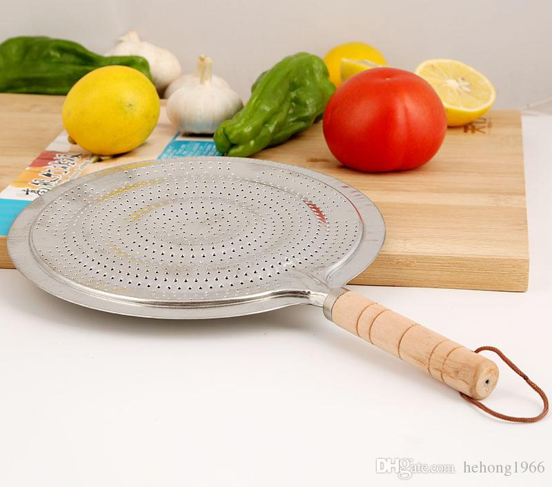Wok Stand Wooden Handle Iron Insulation Pot Pad Coffee Mats Kitchen Ware Tool Silvery Circular High Quality 1 45rf V